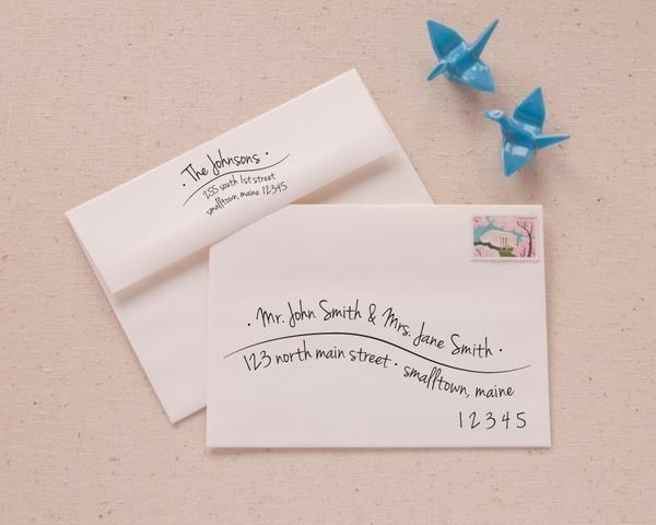 Printable Envelope Address Template Hand Lettered Wave Etsy Envelope Addressing Template Addressing Envelopes Printable Envelope