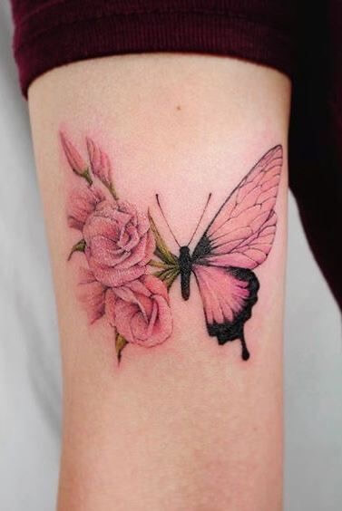 Pink Butterfly Tattoos : butterfly, tattoos, Untitled, Butterfly, Tattoo, Designs,, Elegant, Tattoos,