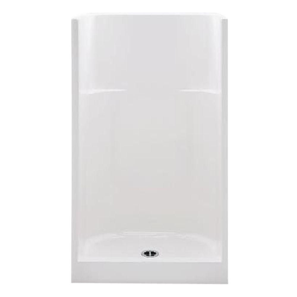 Aquatic Everyday Smooth Wall 36 in. x 36 in. x 75 in. Center Drain ...