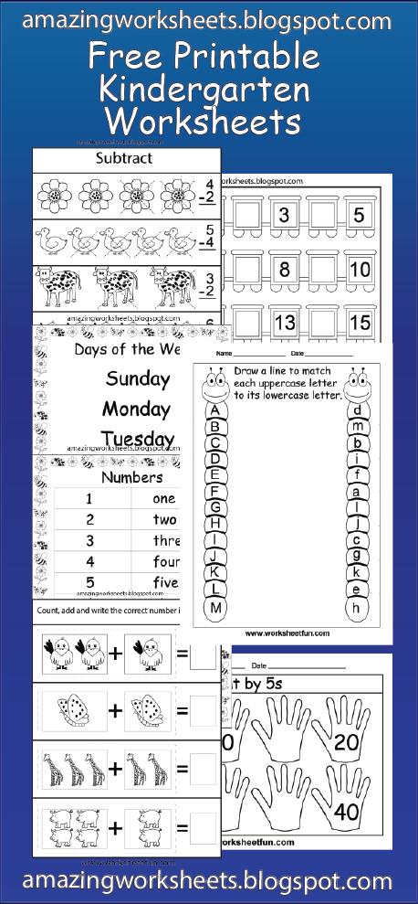 Free Printable Kindergarten Worksheets | Homeschooling | Pinterest ...