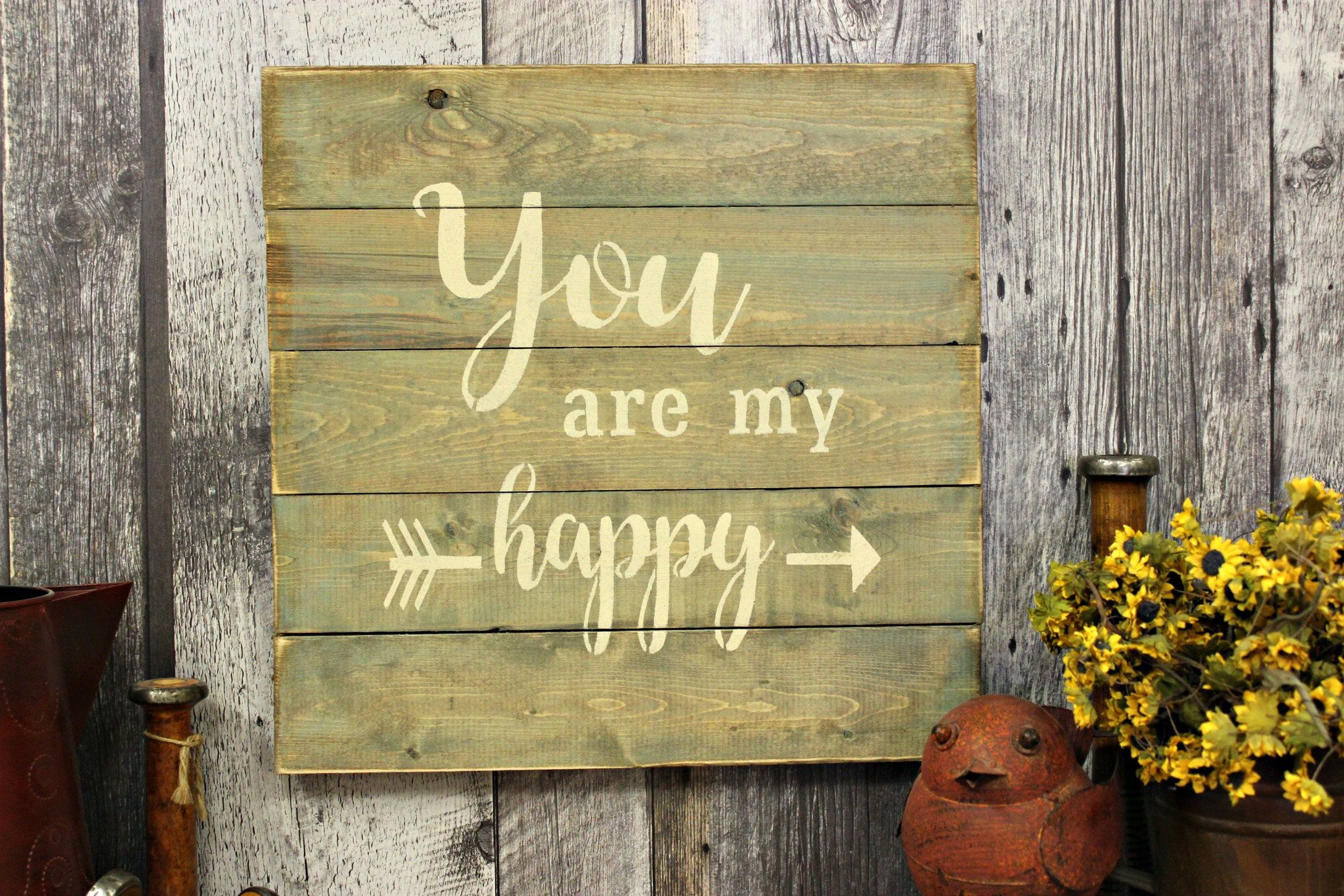 You Are My Happy. Rustic Sign. Country Decor. Love. Wood Sign. Gift ...
