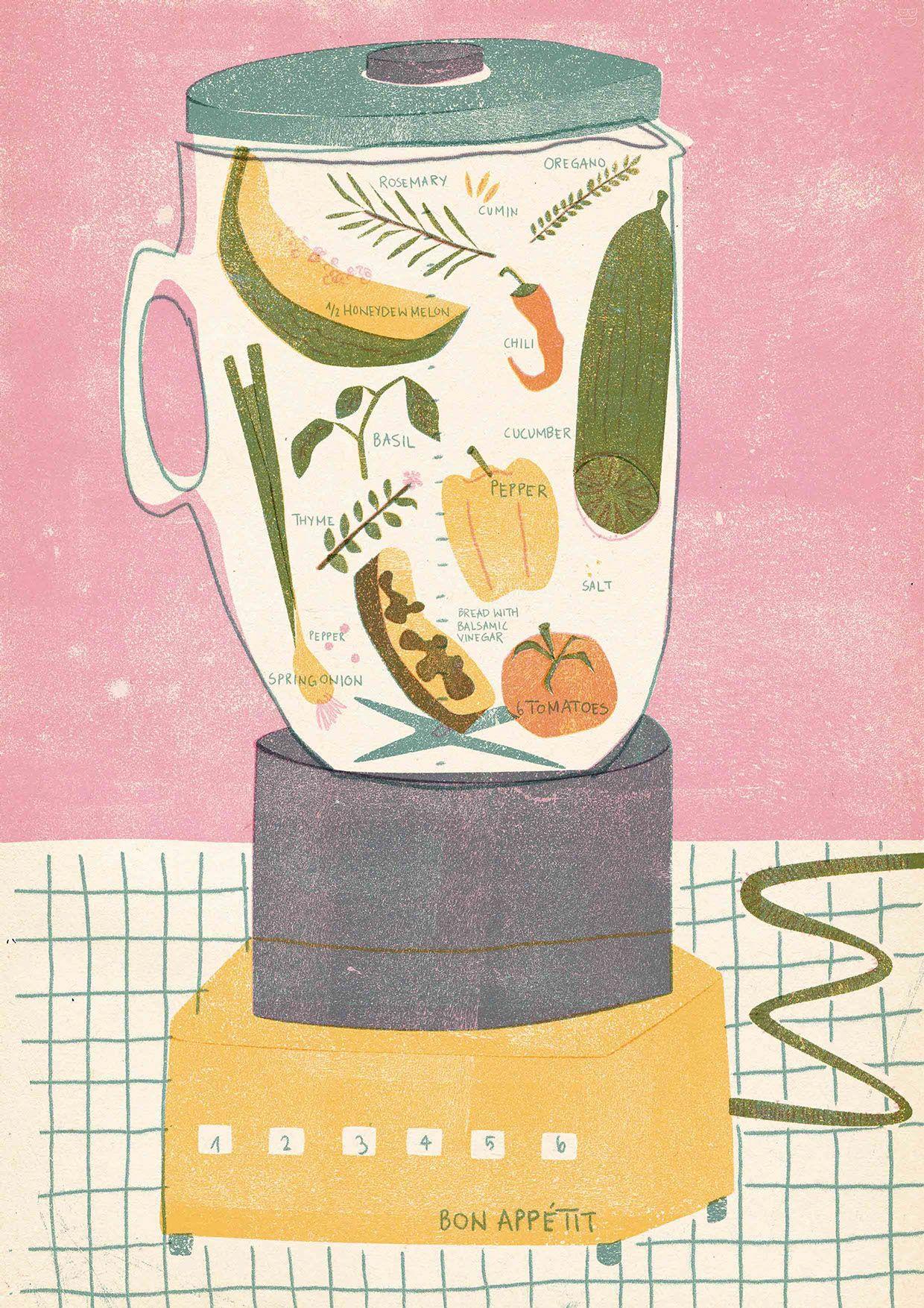 Veggie juice- Retro and organic design