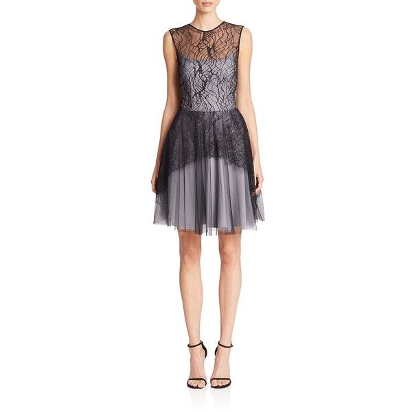 Nha Khanh Katherine Lace Amp Tulle Dress 580 Liked On