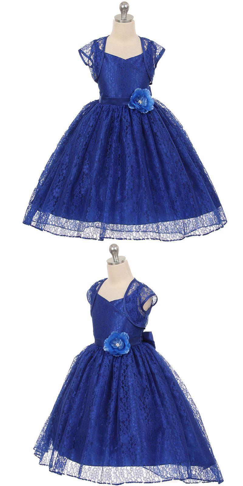Dresses flower girl dresses royal blue birthday wedding