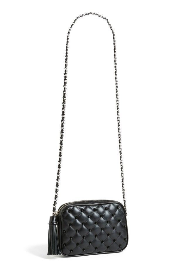 Studded Leather Crossbody. | Studded leather, Leather