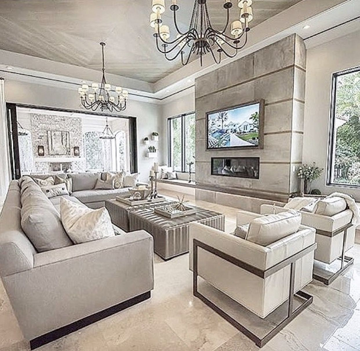 Beautiful  Luxury living room design, Elegant living room decor