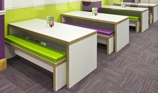 Amazing Block Bench Style Canteen Furniture Design Ideas Photo