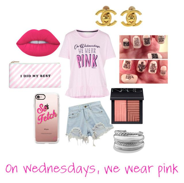 """""""Mean girls inspired outfit"""" by beatrix04 on Polyvore featuring moda, ban.do, Casetify, Chicnova Fashion, NARS Cosmetics, Lime Crime, David Yurman e Chanel"""
