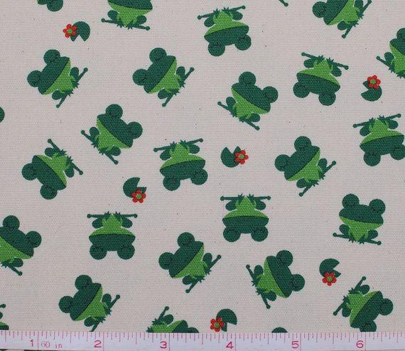 1 YD  Happy Sleepy Green Frogs  Kokka Trefle Japanese by Maigocute, $18.00