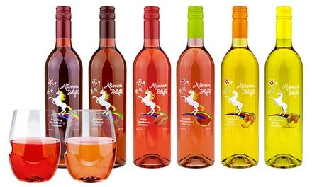 Each fruit-infused Moscato contains only 37.5 calories per glass, making for a guilt-free indulgence; includes stemless govino wine glasses