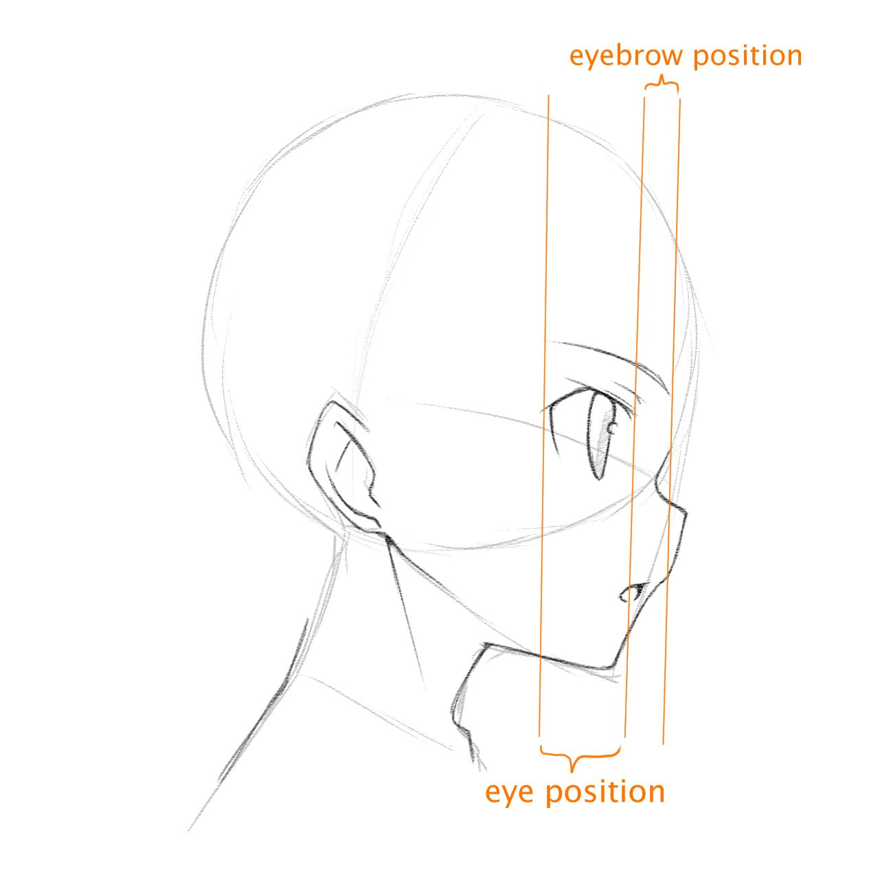 Como dibujar de perfil | World Manga Academy | anime | Pinterest ...
