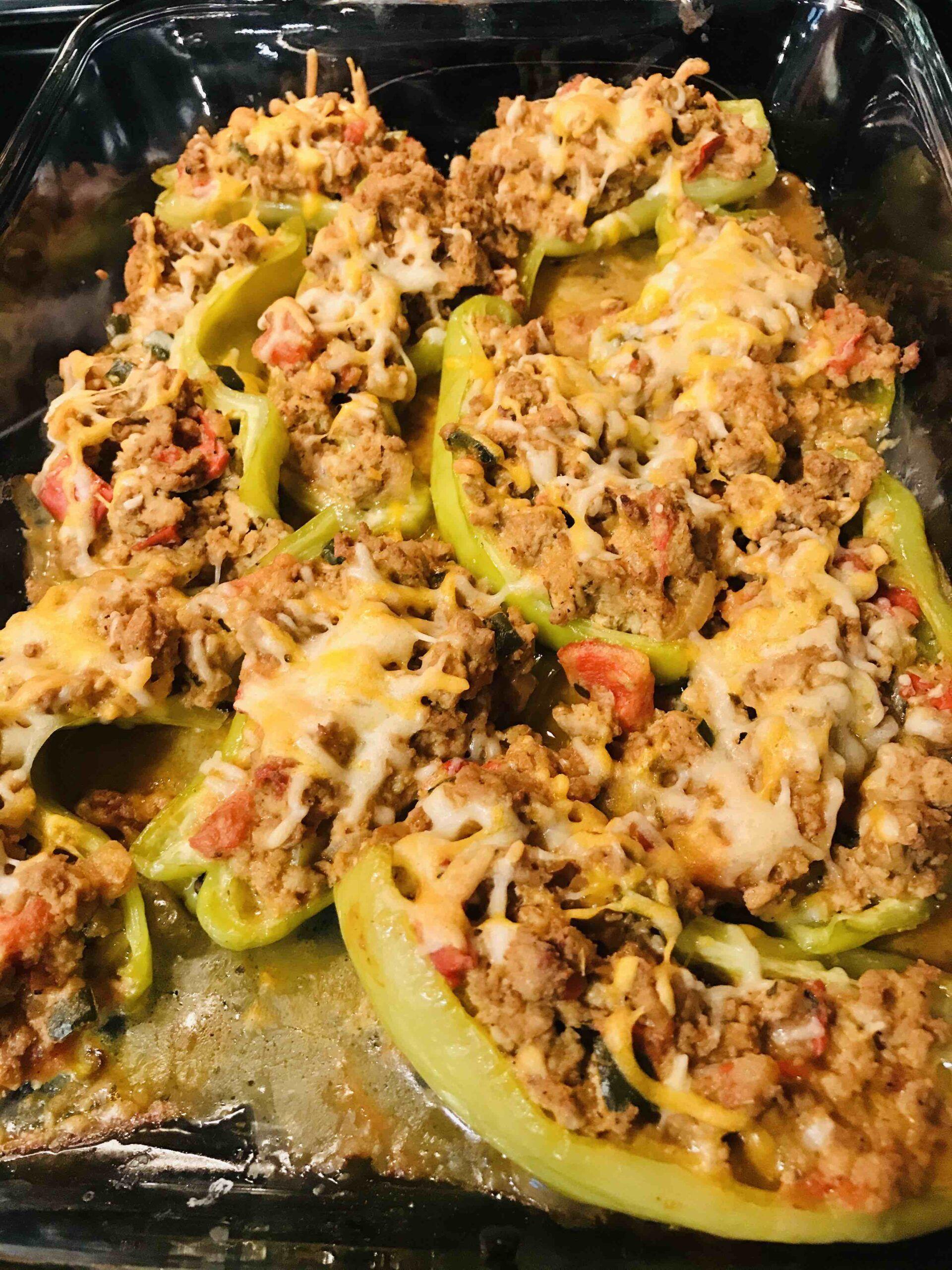 Taco Turkey Stuffed Cubanelle Peppers Recipe In 2020 Stuffed Peppers Cubanelle Pepper Mexican Food Recipes