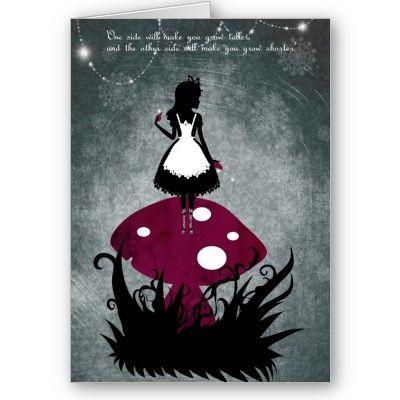 Alice im wunderland karte karte alice party pinterest - Alice im wunderland deko ...
