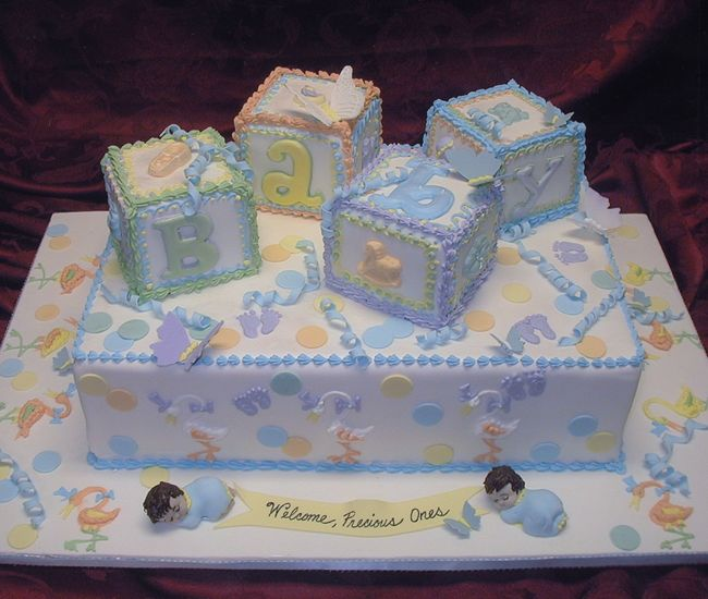 Baby Shower Sheet Cakes For Twins