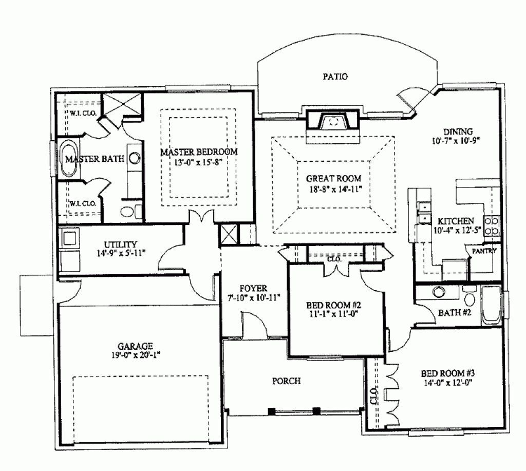 Three Bedroom Bungalow Floor Plan In Nigeria in 2020