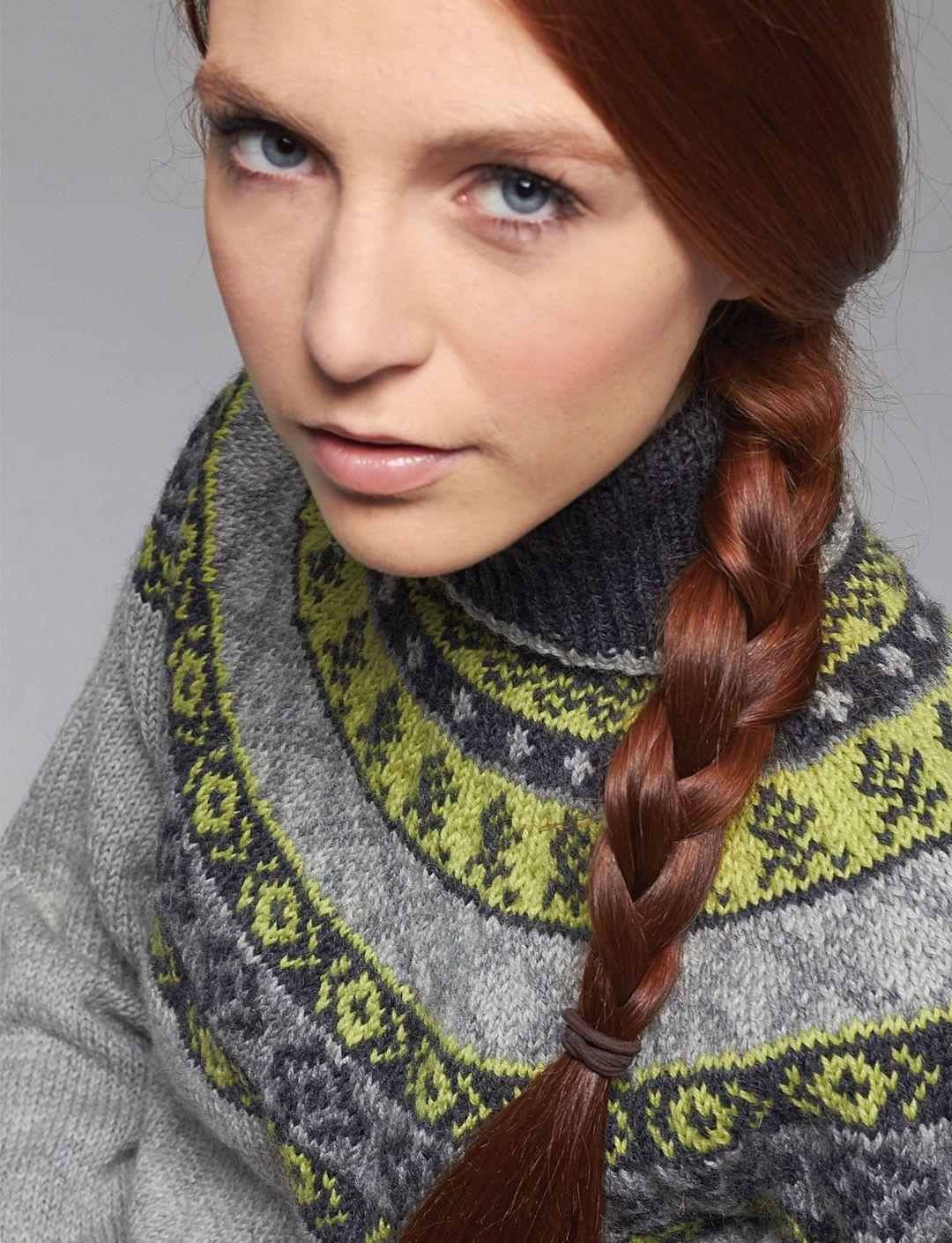 Yarnspirations.com - Patons Woman's Fair Isle Yoke Sweater ...