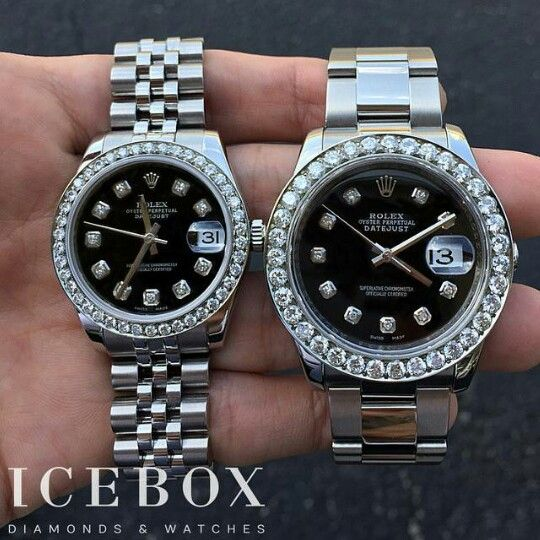 His & Hers Diamond Rolex   Bling **Bling**Bright Shiny ...