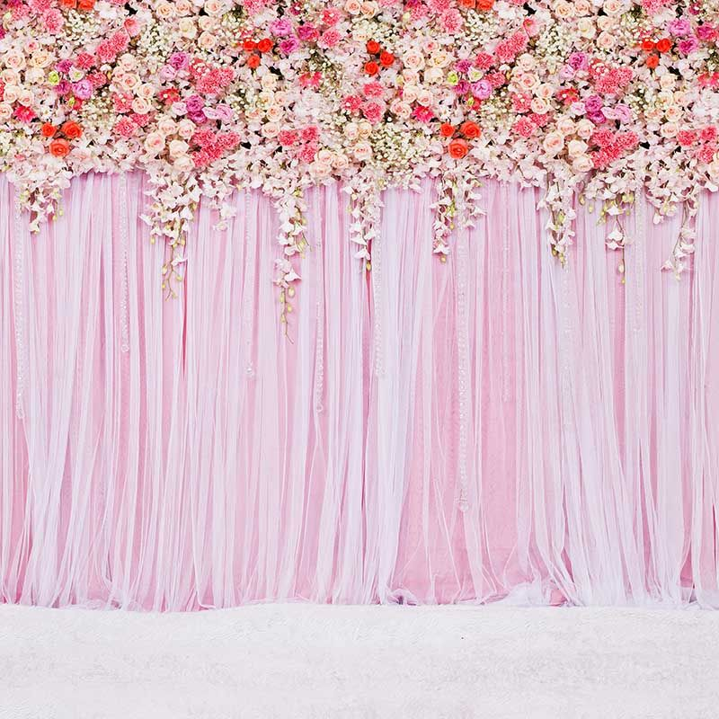7/×5ft Flower Wall Backdrop Vinyl Animals Digitally Printed Video Shooting Background Wall Covering Festivals Back Drops for Photos