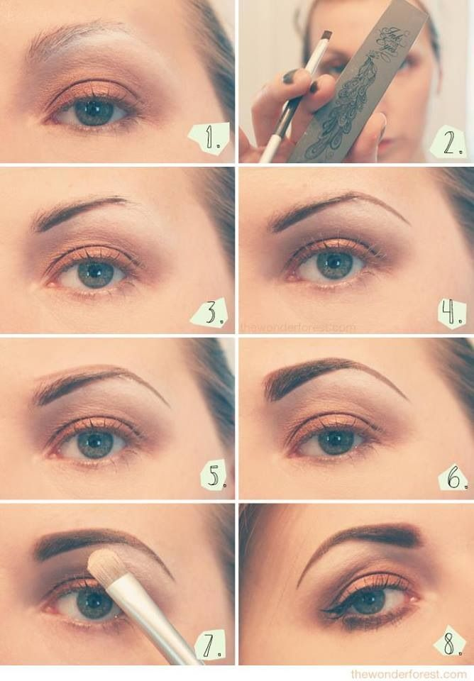 Cant Get Enough Of These Eyebrow Guides Make Up Pinterest