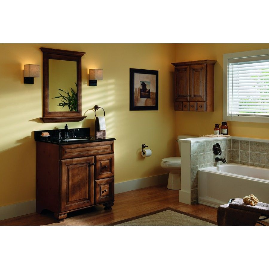 Shop allen + roth Ballantyne 30-in x W 21-in D Mocha With. Traditional  BathroomSmall ...