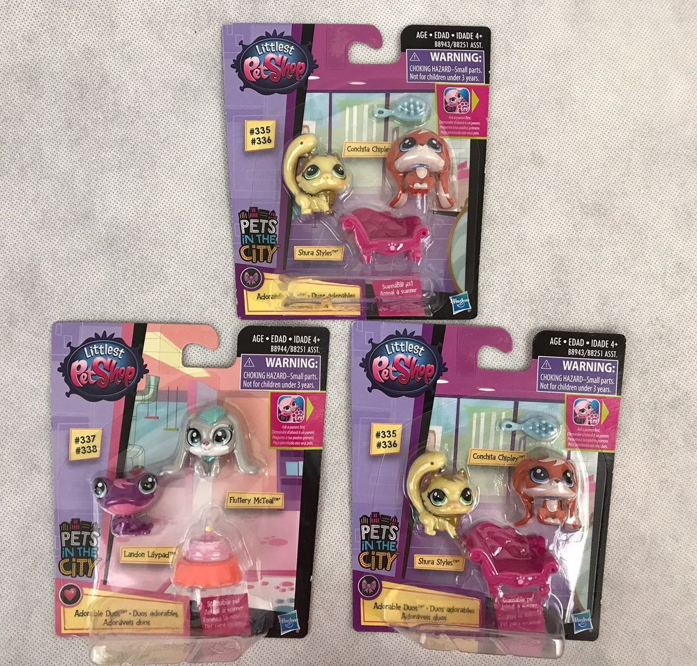 Littlest Pet Shop Pets In The City Lot Of 3 New Gift