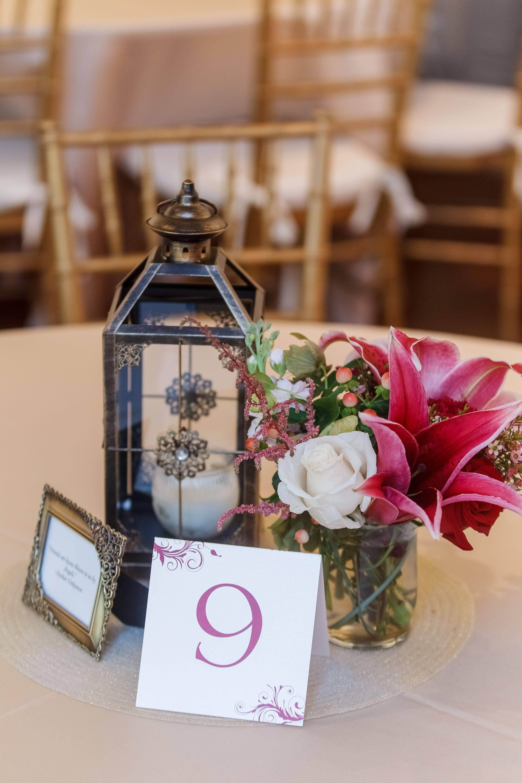 Diy centerpieces lantern from p vase frame