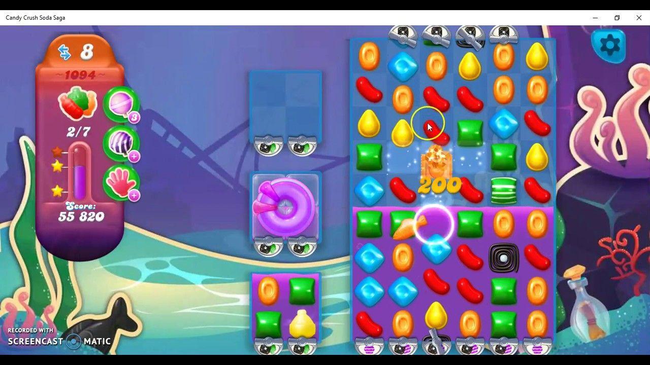 Candy Crush Soda Saga Level 1094 Ultra Hard Level with Daily