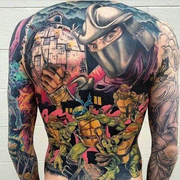 d05005e68 50 Ninja Turtle Tattoos Designs and Ideas   tattoos   Ninja turtle ...