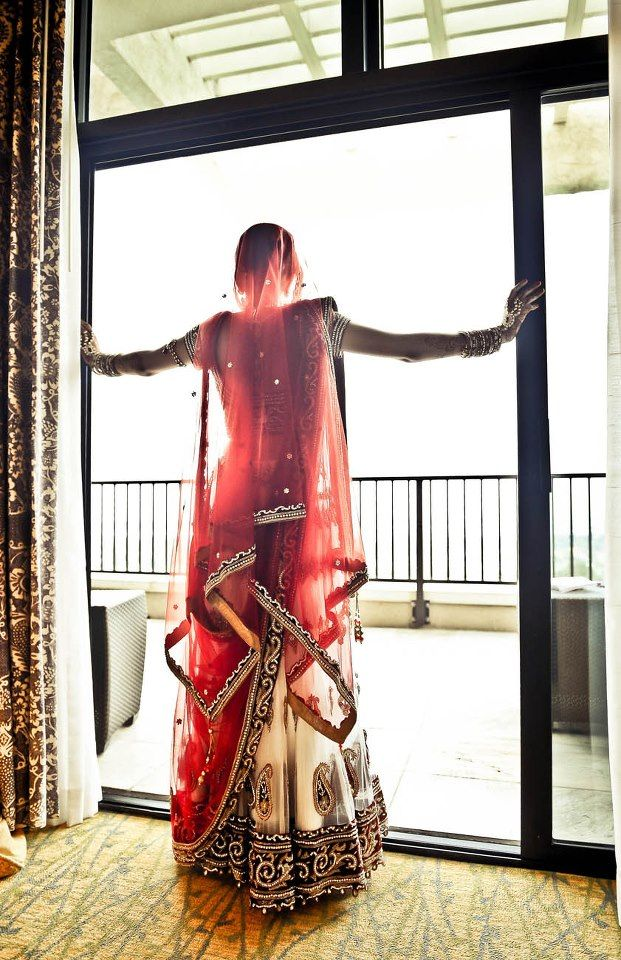 She's opened the doors to a new, beautiful chapter in her life. :) #indian #wedding #photo