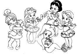 Dibujos Para Colorear De Princesas Bebes Recherche Google