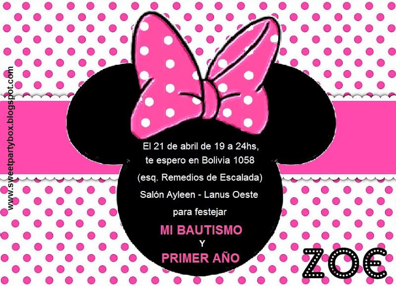 Moldes para invitaciones de Minnie Mouse - Imagui | Minnie ...