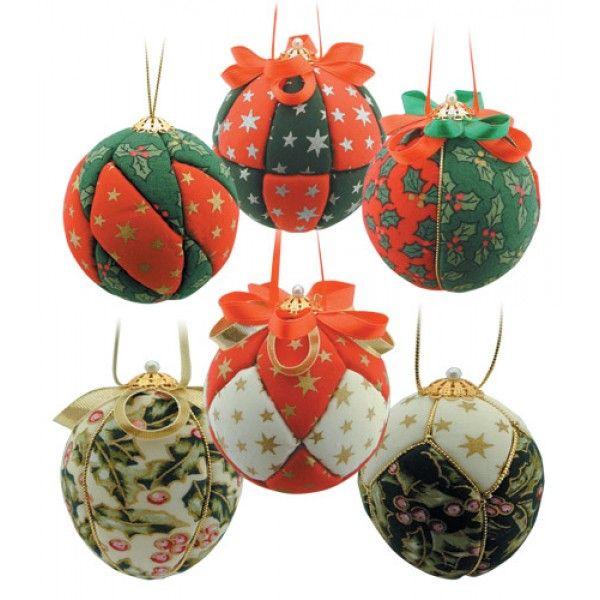 Amazing Christmas Fabric Craft Ideas Part - 13: Christmas Fabric Baubles