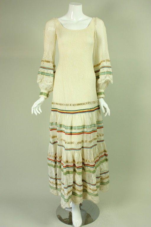 096c299b3e8 1970 s Giorgio di Sant angelo Knit Dress in 2019