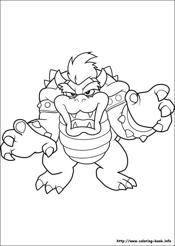 Super Mario Bros. coloring picture | Super Mario | Pinterest ...