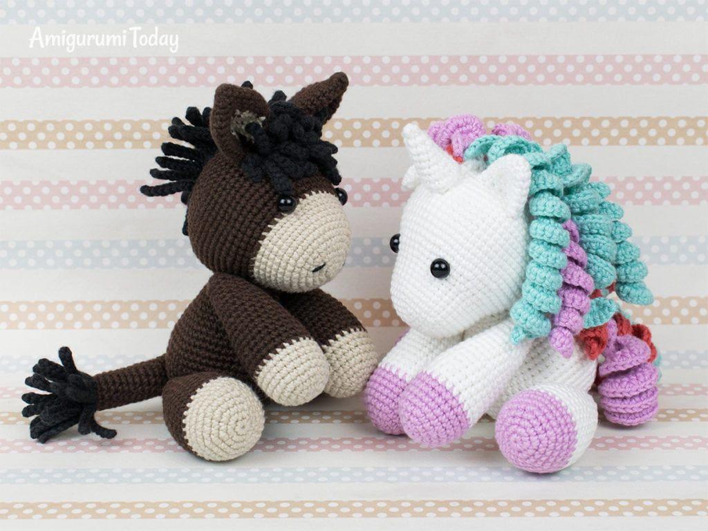 Kostenlos Shy Unicorn Häkelanleitung von Amigurumi Today | Einhorn ... | 768x1024