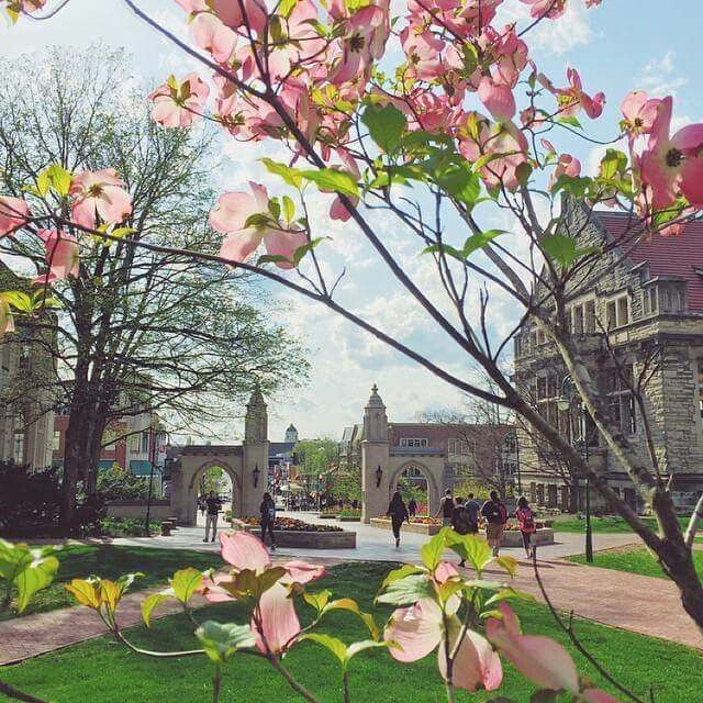 Springtime in Bloomington Indiana University Places