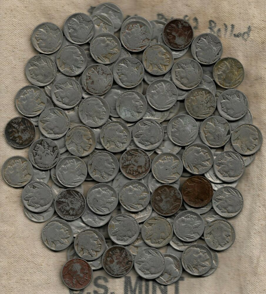 Usa Lot 120 Buffalo Nickels 3 Rolls Coins All With Readable Dates Face 6 00 In 2020 Vintage Postage