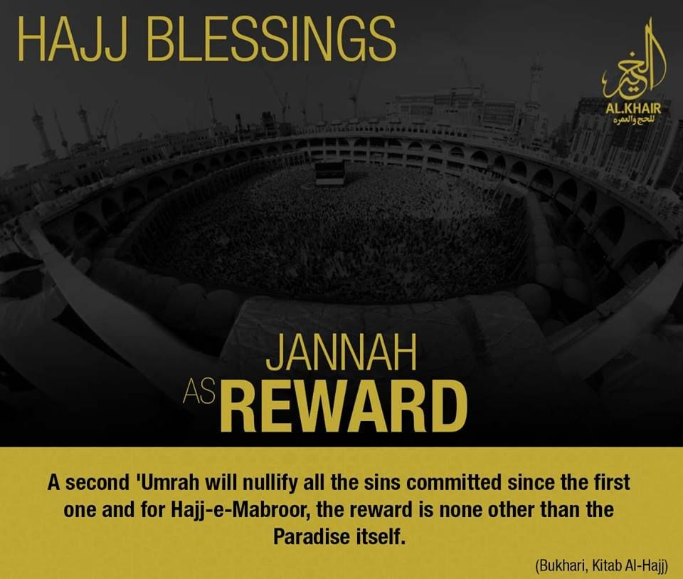 Umrah Banner: ** Blessings Of Hajj ** The Reward Of Hajj-e-Mabroor Is