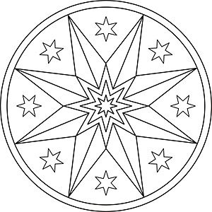 Mandala Malvorlage Weihnachtsstern Coloring Pages Malvo