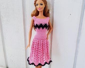 Barbie clothes Barbie Crochet Dress for Barbie Doll #crochetedbarbiedollclothes