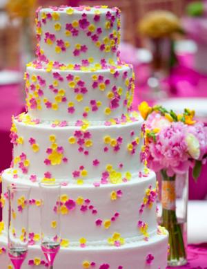Pink And Yellow Garden Wedding Theme Whimsically Sweet