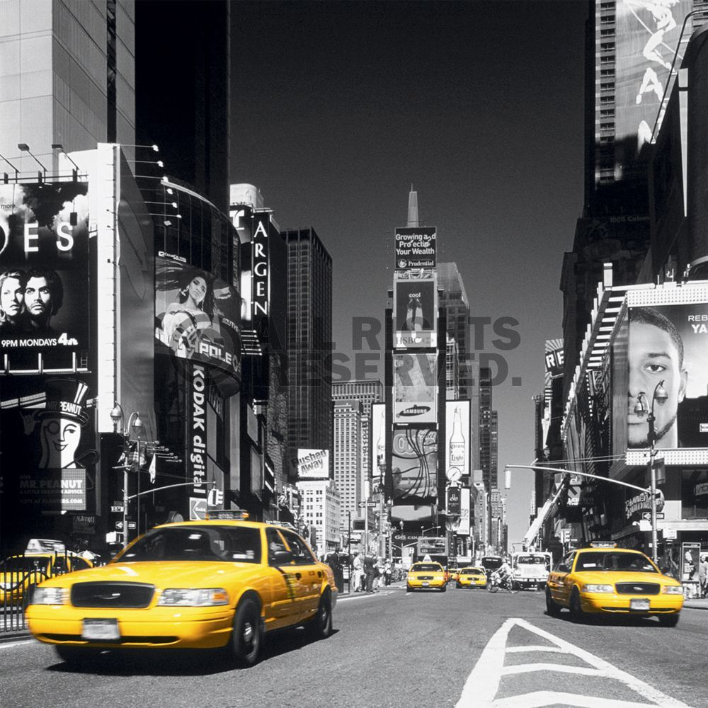 Oversize 115x115 times square yellow cab ikea ny for Ikea new york city