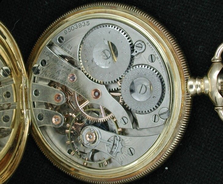 The beautiful inner workings of a Waltham watch.