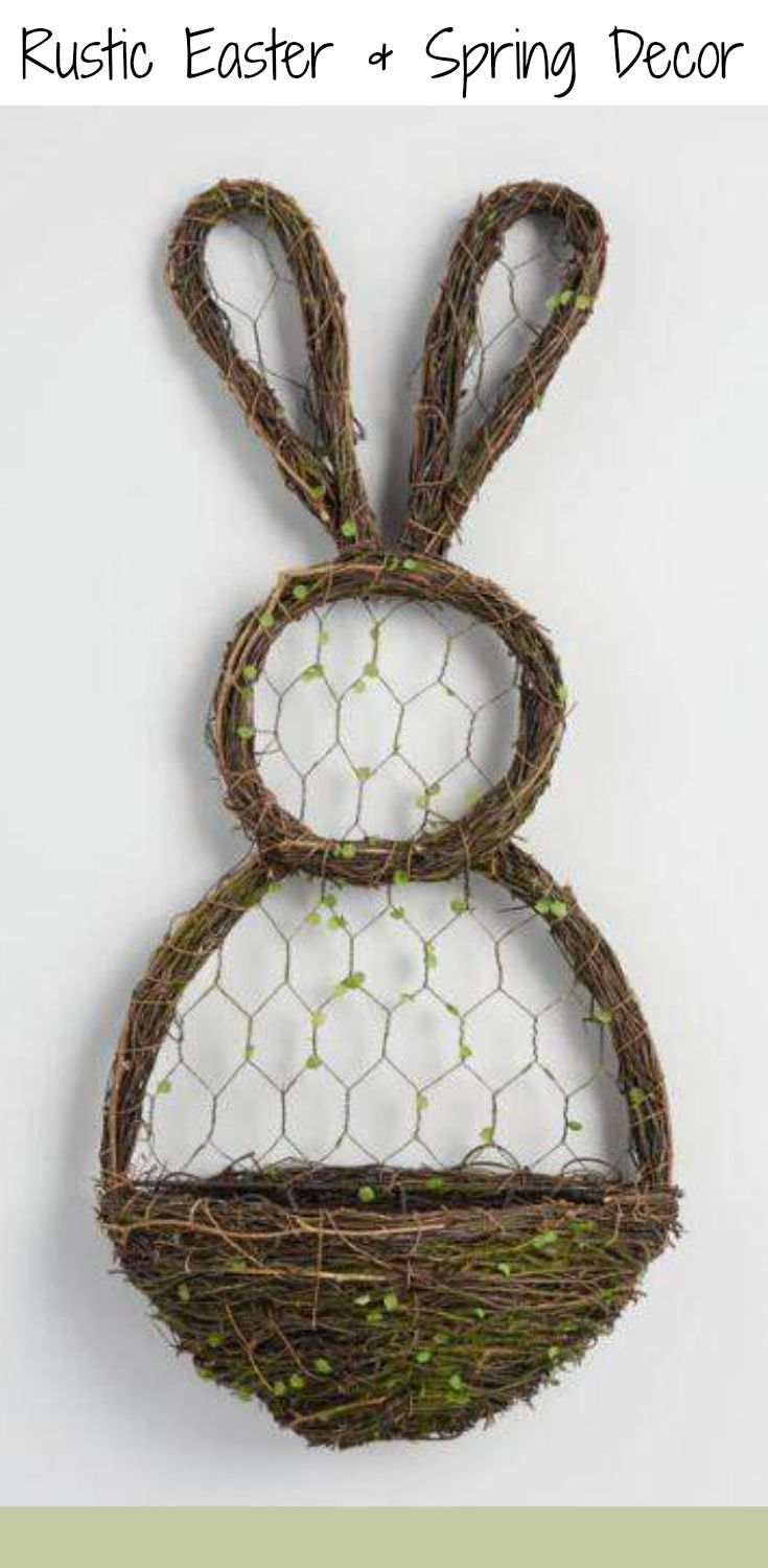 Spring Rustic charm and Easter whimsy, our bunny-shaped wall decor ...