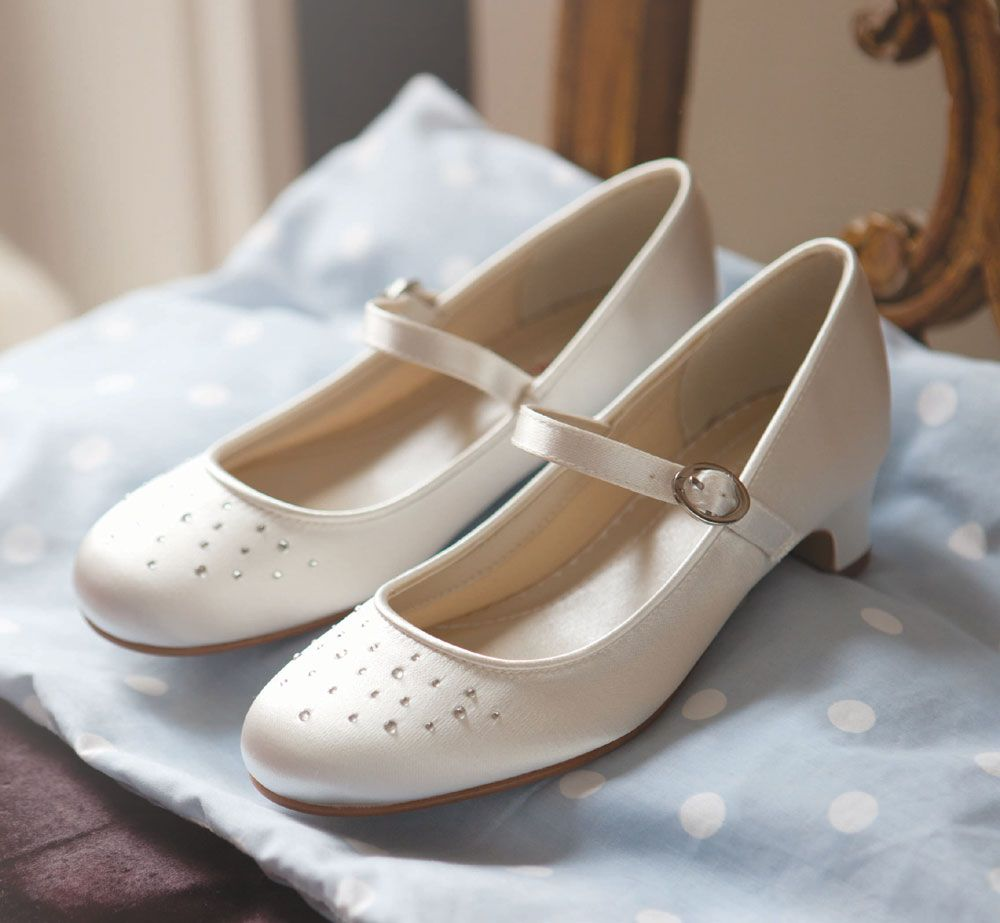 Rainbow Club Verity Childrens Wedding Shoes Ivory Or White Bridesmaid Communion