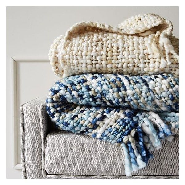 West Elm Throw Blanket Endearing West Elm Marled Basketweave Throw Stone White $79 ❤ Liked On Decorating Design