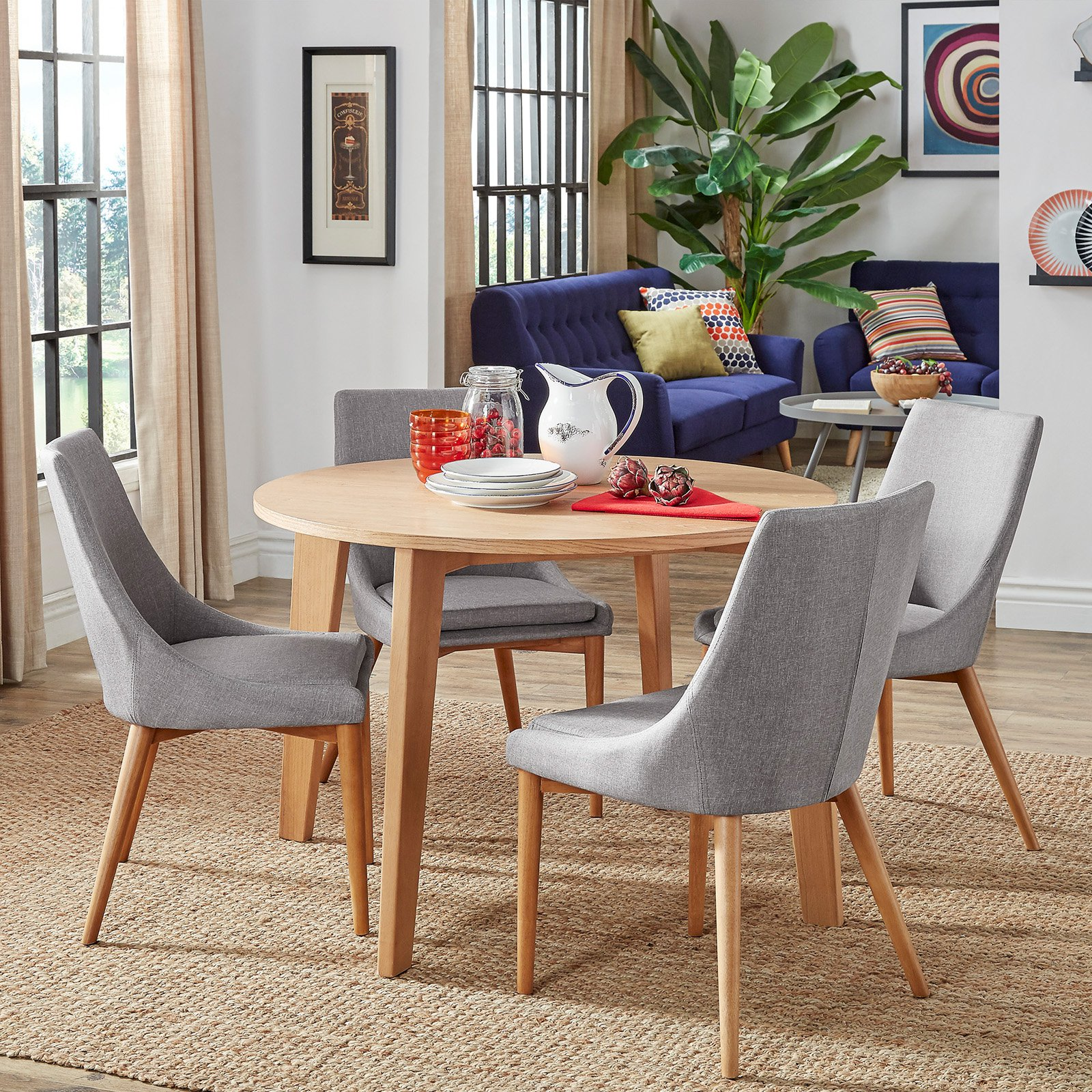 Fantastic Chelsea Lane Baxter 5 Piece Dining Set Gray Products In Cjindustries Chair Design For Home Cjindustriesco