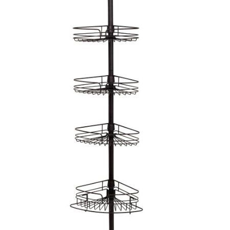 amazon com zenith products 2132hb tub and shower tension pole caddy rh pinterest com