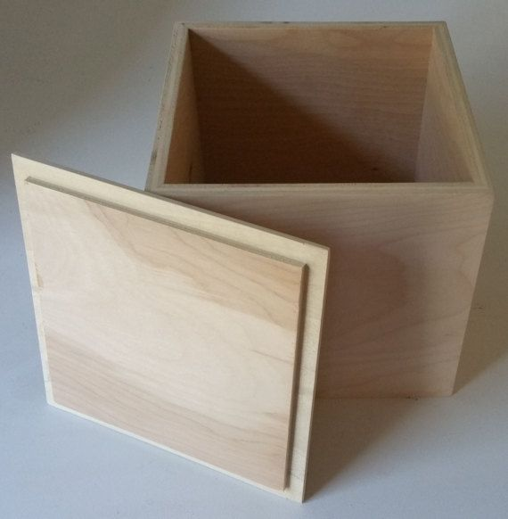 Wood Box With Lid 11x 11x 11storage Box Etsy Custom Wood Boxes Wooden Box Diy Wooden Box With Lid