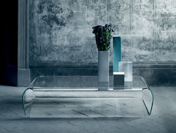 Glas Italia Bent Glass Table